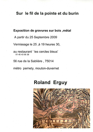 Roland Erguy, annonce expo